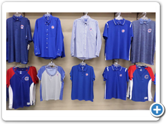 Dress shirts and men's and women's polos including extended sizes.
