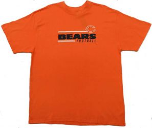 Bears Big and Tall Orange Line of Scrimmage T-Shirt