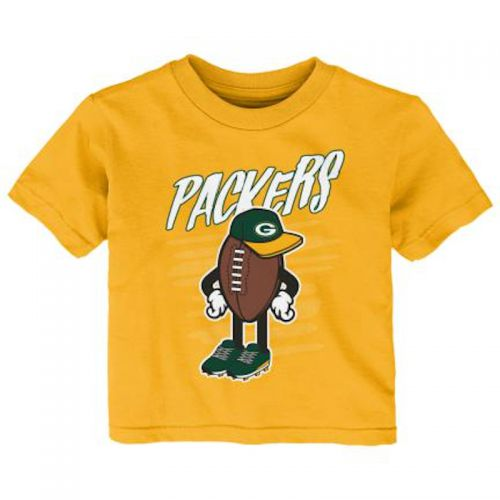 Packers Infant Gold Football Dude T-Shirt