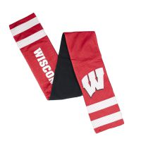 Badgers Jersey Scarf with Zipper Pocket