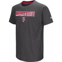 Badgers Youth Charcoal Hat Trick T-shirt