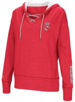 Badgers Women's Rhymes Lace-up Hooded Sweatshirt