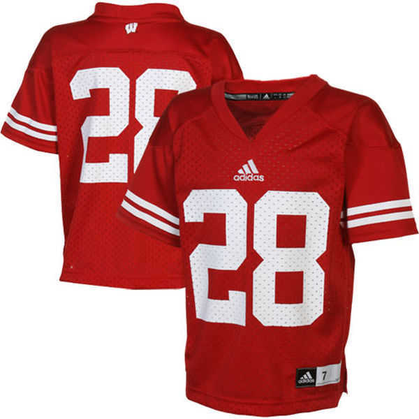Badgers No.28 Toddler Red Football Jersey