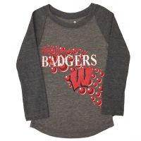 Badgers  Girl's Mother of Pearl Long Sleeve Top