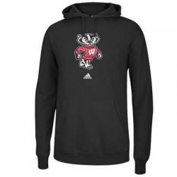 Badgers Black Embroidered Hooded Sweatshirt