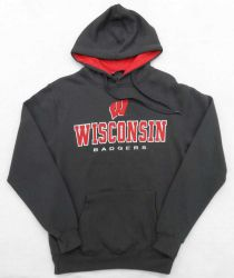 Badgers Charcoal Zone II Hooded Sweatshirt