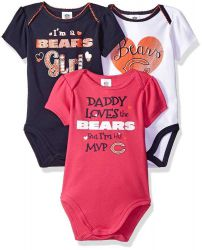 Bears Baby Girl's 3 Piece Bodysuit Set