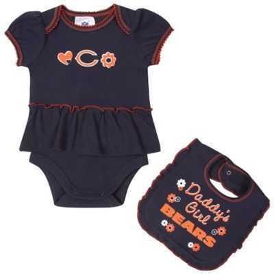bea3560a2 Bears Newborn Daddy s Girl Ruffled Bodysuit and Bib Set - Clearance ...