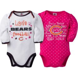 Bears Baby Girls Two Pack Long Sleeve Bodysuit Set