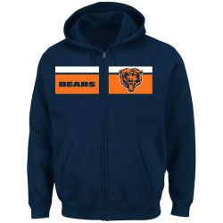 Bears Big and Tall Touchback Full Zip Hoodie