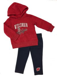 Badgers Infant Toe Flip Hoodie and Legging Set