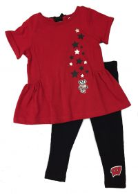 Badgers Infant Shot Put Top and Legging Set