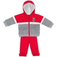 Badgers Infant Chunk Fleece Set