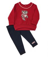 Badgers Infant Rosalita Ruffled Sweatshirt and Legging Set