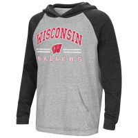 Badgers Youth One-eyed Hooded Raglan Shirt