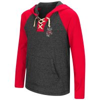Badgers Girl's Andy Lace Up Hooded Long Sleeve Tee