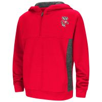 Badgers Youth Goon Docks Half Zip Hooded Sweatshirt