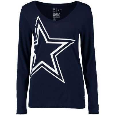 Cowboys Ladies Logo Wrap Long Sleeve T-shirt - Dallas Cowboys Adult - Sportswear  WI 4928c1573