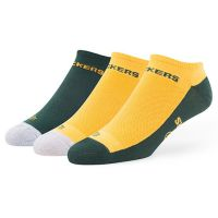 Packers Adult Team Color Gait Tonal 3 Pack No Show Socks