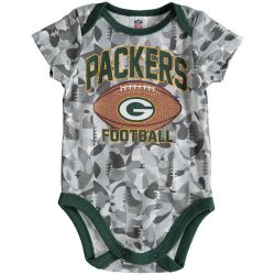 Packers Baby Football Camouflage Bodysuit