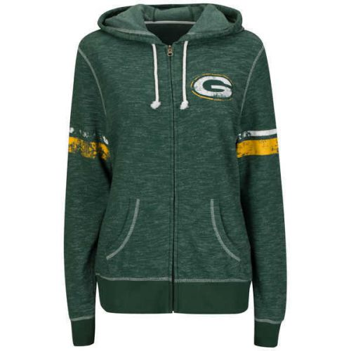 Packers Women's  Plus Athletic Tradition Full Zip Hoodie