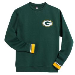 Packers Men's Big and Tall Crew Sweatshirt