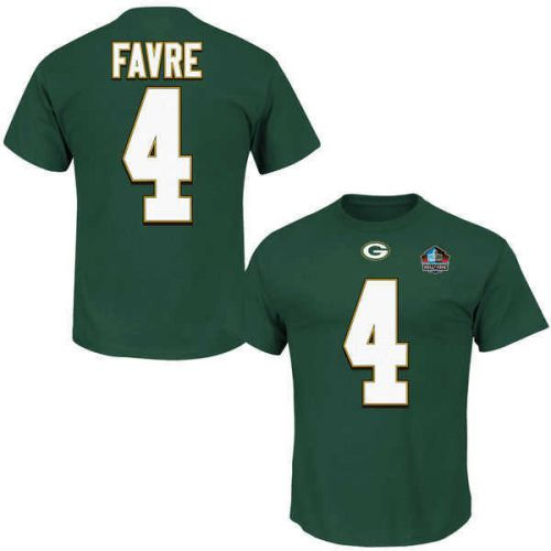 low priced 7ffe0 621aa Packers Men's Big and Tall Brett Favre Hall of Fame Name and Number Tee