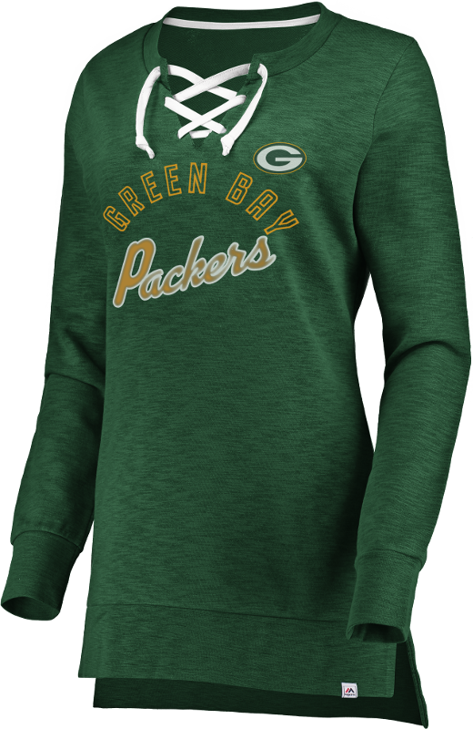 Packers Women's Hyper Lace Sweatshirt Tunic