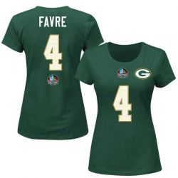 Packers Women's Brett Favre Hall of Fame Name and Number Tee