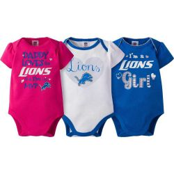 Lions Baby Girl's 3 Piece Bodysuit Set