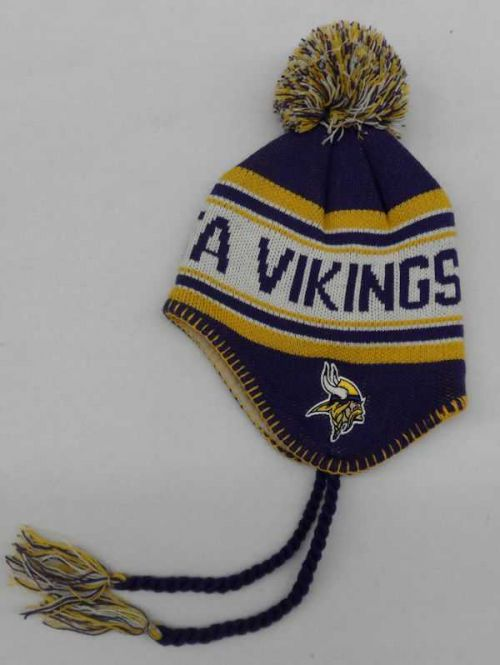 Vikings Kids Tassel Knit Hat