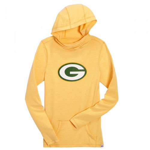Packers Women s Gold Great Play Cowl Neck Hooded Top - Packers Women s  Apparel - Sportswear WI aa2f74ca6