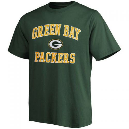 Packers Men's Big and Tall Green Heart and Soul T-Shirt