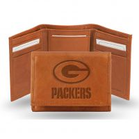 Packers Men's Leather Embossed Trifold