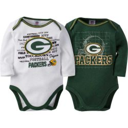 Packers Baby Two Pack Long Sleeve Bodysuit Set
