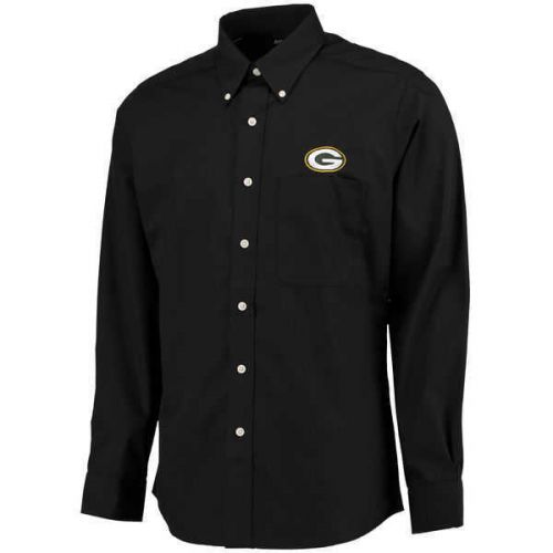 Packers Men's Big and Tall Black Dynasty Long Sleeve Shirt