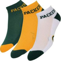 Packers Adult Team Color 3-pack Money Ankle Socks