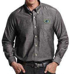 Packers Men's Big and Tall Sharp Black Long Sleeve Shirt