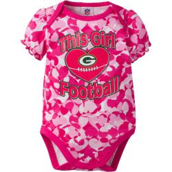Packers Baby This Girl Loves Football Camouflage Bodysuit