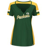 Packers Women's Plus Pride Playing Notch Neck Tee