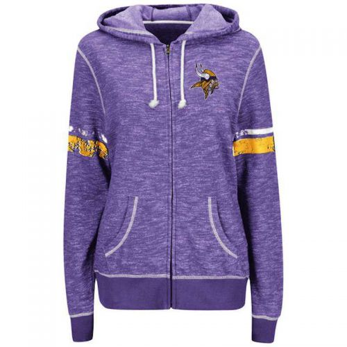 online store 3230d 7c6a0 Vikings Women's Athletic Tradition Full Zip Hoodie