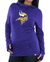 Vikings Women's Great Play Cowl Neck Hooded Top