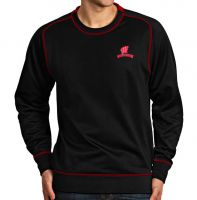 Badgers Black Volt Crew Sweatshirt