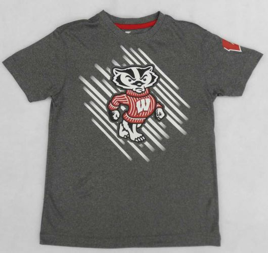 Badgers Youth Charcoal Position T-shirt