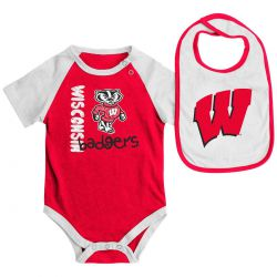Badgers Baby Rookie Creeper and Bib Set
