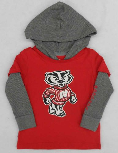 Badgers Toddler Rail Long Sleeve Hooded Tee