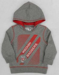 Badgers Toddler Gray Slider Hoodie
